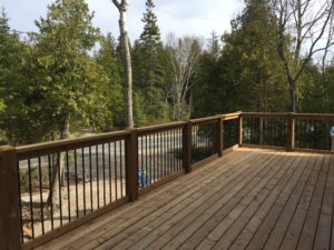 300 sq.ft. Deck, Escarpment Heights Motel, new motel Tobermory, cottage rentals, Big Tub Harbour, glass bottom boat cruise, boat tour, Hay Bay Road, Legion Street, Tobermory, Bruce Peninsula